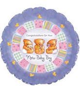 "18"" Congratulations New Baby Boy Box116"