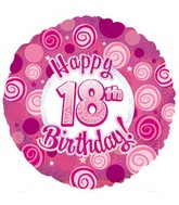 "18"" Happy18th Birthday Pink Dazzeloon"