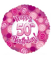 18 Happy 50th Birthday Pink Dazzeloon
