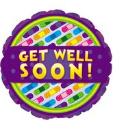 "18"" Get Well Soon Bandages Balloon Box104"
