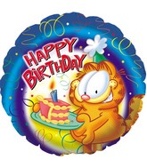 "18"" Garfield Birthday Piece of Cake Box48"