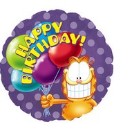 "18"" Garfield Birthday Balloons Box48"