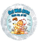 "17"" Garfield Get Well Balloon"