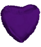 "18"" CTI Deep Purple Metallic Heart"