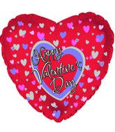 "18"" Happy Valentine&#39s Day All Over Hearts"