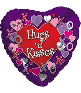 "18"" Hugs and Kisses Purple Box124"