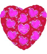 "18"" Happy Valentine&#39s Day Hearts w/Arrows"