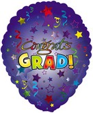 "18"" Congrats Grad Balloon Shape Blue"