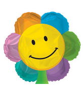"17"" Smiley Face Flower Shape Balloon Packaged"