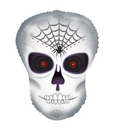 "12"" Airfill Only Spider Skull Dude Balloon"