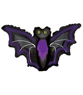 "12"" Airfill Only Night Bat Balloon"