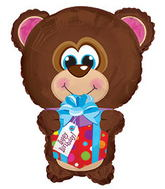 "22"" Happy Birthday Day Bear Shape Packaged"