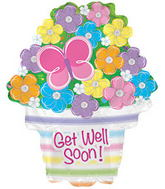 "22"" Get Well Soon Flowers Balloon"