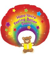 "31"" Feel Better Soon Rainbow Bear (B8)"