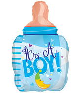 "22"" It�s A Boy Bottle Shape Balloon"