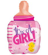 "22"" It�s A Girl Bottle Shape Balloon"
