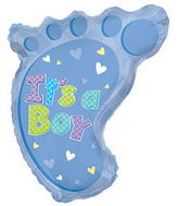 "22"" It�s A Boy Foot Shape Balloon"