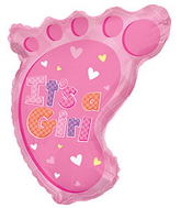 "22"" It�s A Girl Foot Shape Balloon"