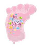 "34"" It's A Girl Baby Foot Shape-A-Loon Box108"