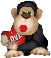 "22"" Love Monkey Big Kiss Shape Box89"
