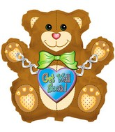 "34"" Get Well Bear Box131"