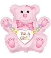 "32"" Jumbo It&#39s a Girl Bear Box129"