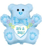 "32"" Jumbo It&#39s a Boy Bear Box127"
