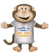 "36"" Get Well Soon Monkey Balloon  (B6)"