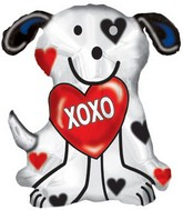 "24"" XOXO Dalmatian Dog Balloon Box89"