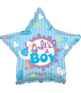 "17"" It�s A Boy Stork Star Balloon"