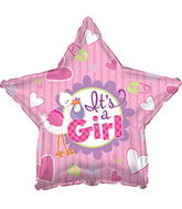 "17"" It�s A Girl Stork Star Balloon"
