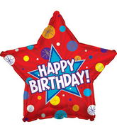 "17"" Happy Birthday Day Dynamic Star Packaged"