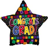 "18"" Congrats Grad Color Blocks"