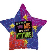 "18"" It's Not the Age It's the Attitude Star"