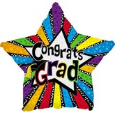 "18"" Congrats Grad Stars and Stripes"