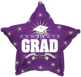 "18"" Congrats Grad Purple Star"
