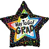 "31"" Confetti Grad Star Balloon"