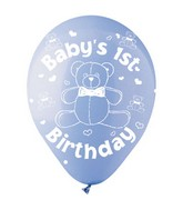 "12"" PASTL Blue ""Baby&#39s First Birthday"" Latex 50&#39s"
