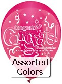 "12"" ""Assorted Congrats!"" Latex 50&#39s"