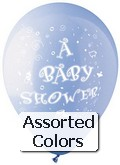 "12"" PASTL Assorted Colors ""Baby Shower"" 50&#39s Latex"