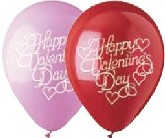 "12"" Pink/White ""Happy VDay"" Script Latex 50&#39s"