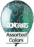 "12"" Assorted ""Congrats"" Latex 50&#39s"