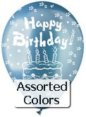 "12"" Pastel Assorted ""Happy Birthday"" Latex 50&#39s"