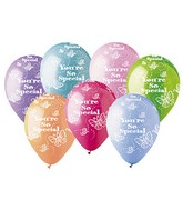 "12"" Pastel Assorted ""You're So Special""     Latex 50's"