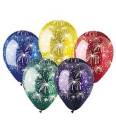 "12"" Assorted Fireworks Colors Latex 50&#39s"
