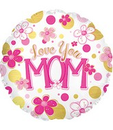 "17"" Love You Mom Balloon Balloon"