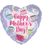 "17"" Happy Mother's Day Coffee and Tea Cups Balloon"