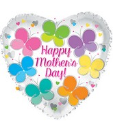 "17"" Happy Mother&#39s Day Flutterflies Balloon"