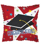 "17"" Big Star Congratulations Graduation Balloon"