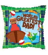 "17"" Father's Day Fishing Balloon"